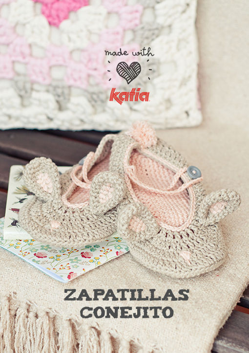 Patrón Zapatillas Conejito de Pascua