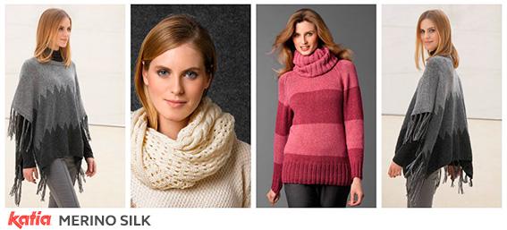 Seda, alpaca, algodón, lana merino y mohair unidas en 5 combinaciones