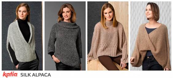 Seda alpaca algodón lana merino mohair