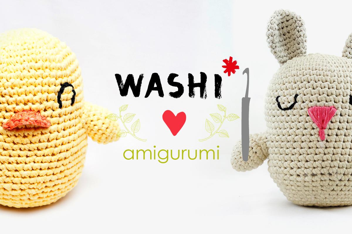Aprende amigurumi con Washi: Pollito y conejo de Pascua