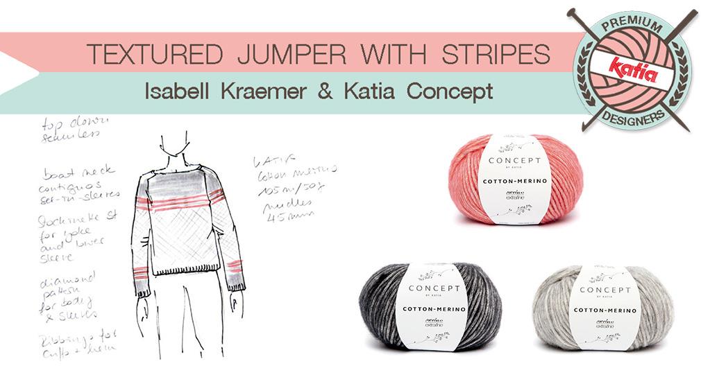 Isabell Kraemer y su jersey de texturas y rayas para Katia Concept