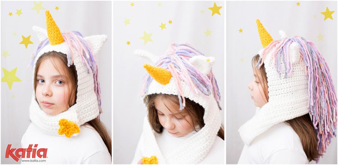 Patrón de ganchillo Gorro Unicornio, un disfraz de Carnaval fácil ...
