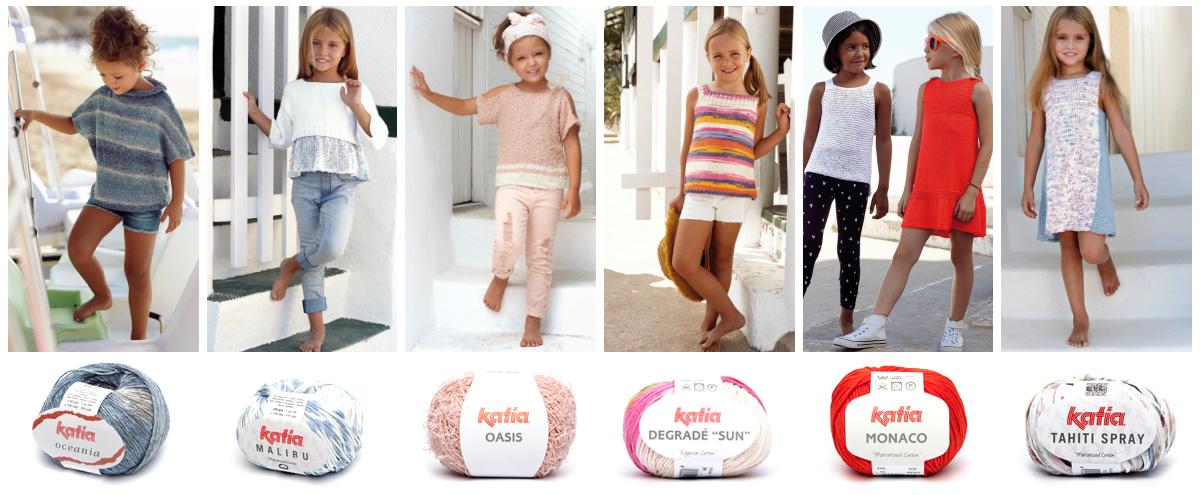 f3f992d60 Patrones de punto para niñas y niños más fáciles de tejer de Katia ...