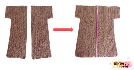 cómo hacer a ganchillo un abrigo