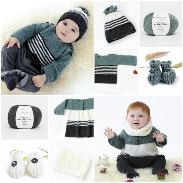 Katia Babystories: 28 diseños fáciles para aprender a tejer ropa de bebé