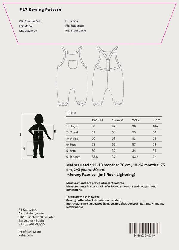 Cómo interpretar los patrones de costura KATIA FABRICS - Katia Blog ...