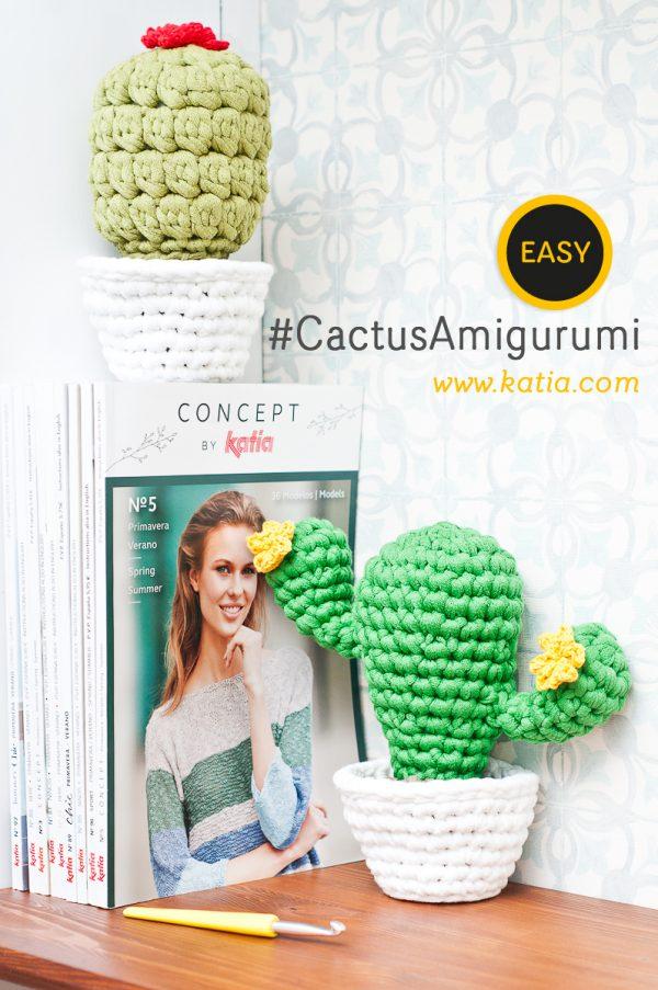 Cactus Amigurumi muy fáciles. ¡Haz estos sujetalibros para tu hogar!