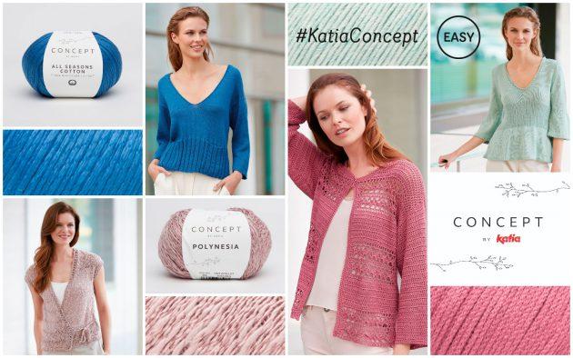diseños elegantes fáciles de tejer con hilos naturales Concept by Katia