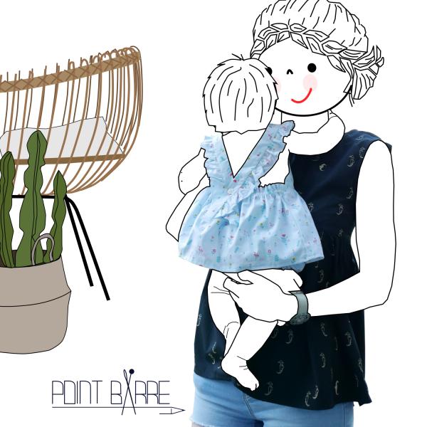 vestido con braguita para bebe