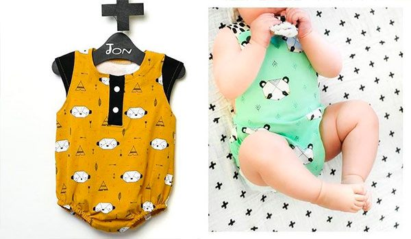 patrones de costura pelele bebe