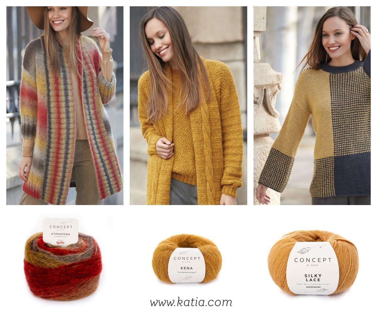 ... fácil de jersey mangas listadas y bufanda con trenza tejido con Kena   y 441569ad3a8a