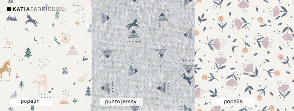 Katia fabrics otoño unicorns