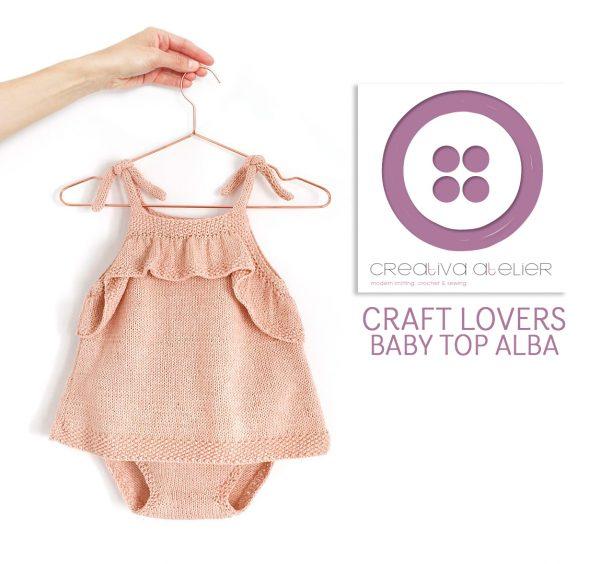 Cómo tejer un top con volante para bebé con el tutorial de Creativa ...
