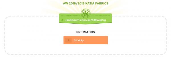 resultado sorteo Katia Fbarics AZ2018