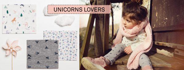 Colección de telas Unicorns