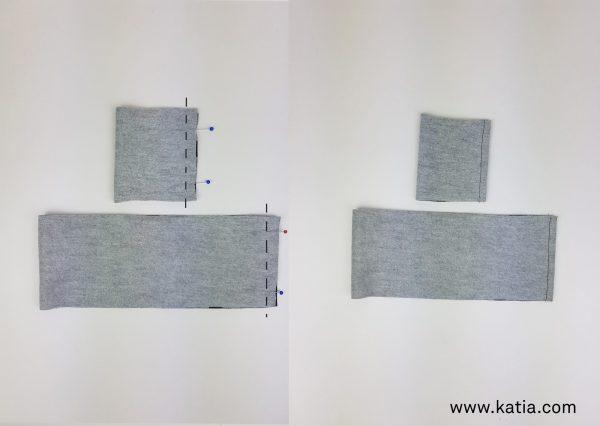 coser cinturilla reves contra reves