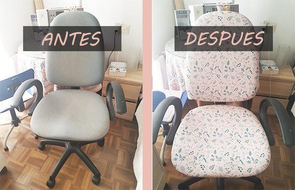 silla oficina antes y despues