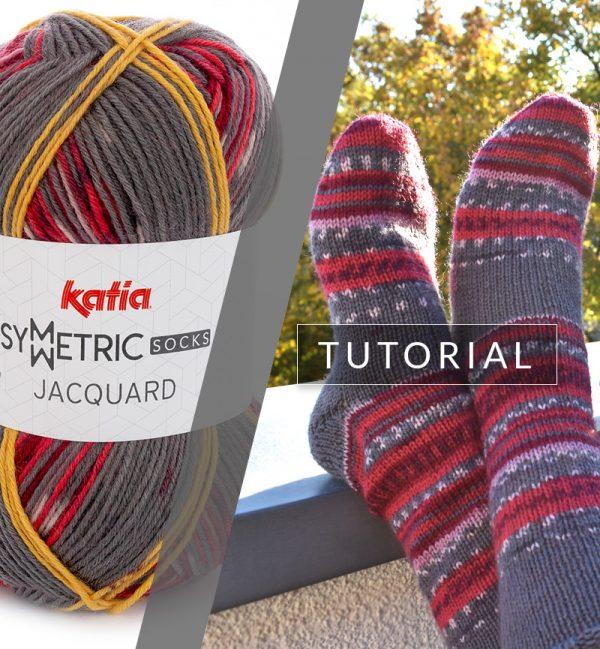924a67f46 Cómo tejer calcetines perfectos con un ovillo Jacquard Symmetric Socks