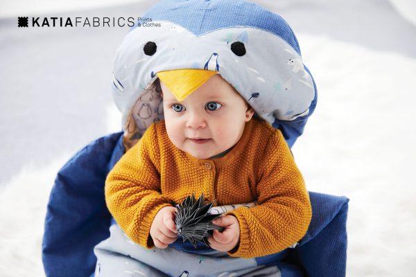 patrón saco bebé pingüino