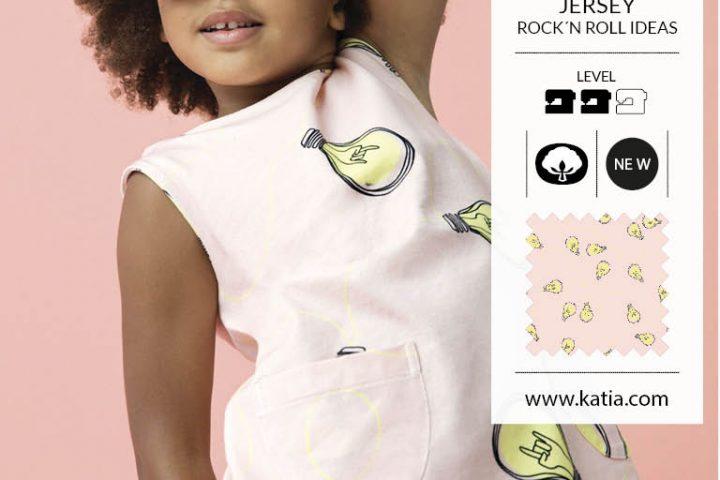 vestido de punto jersey para niña