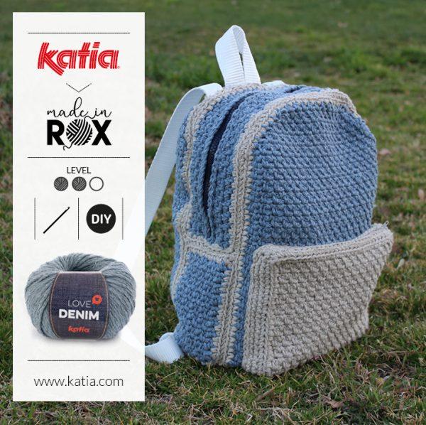 mochila de crochet