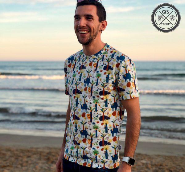 toni camiseta cosida con la tela jersey into the jungle