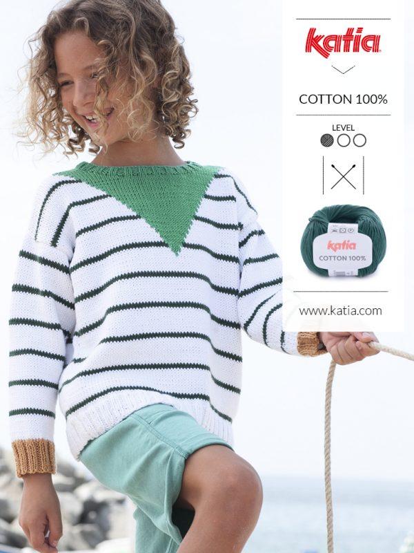 jersey a rayas de punto