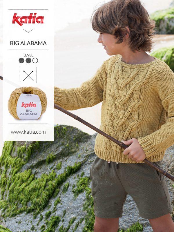 suéter aran con trenzas