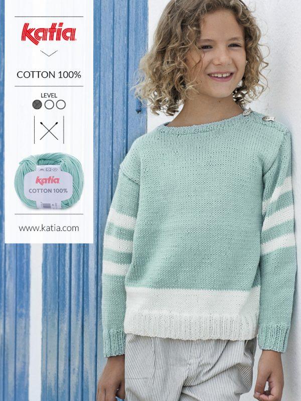 suéter sport con rayas