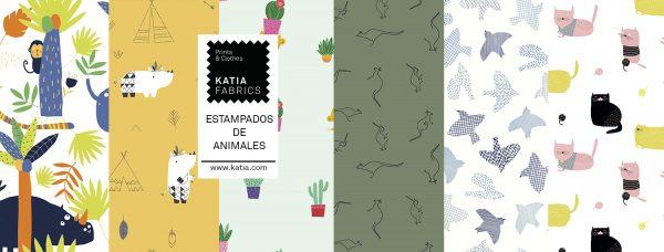 telas con estampado de animales
