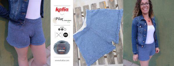 Pantalones cortos de punto