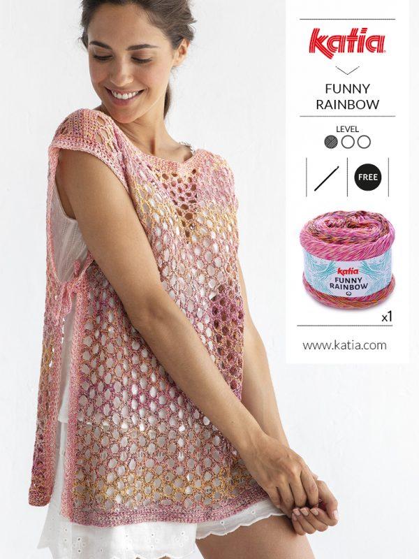 Blusa de red a crochet
