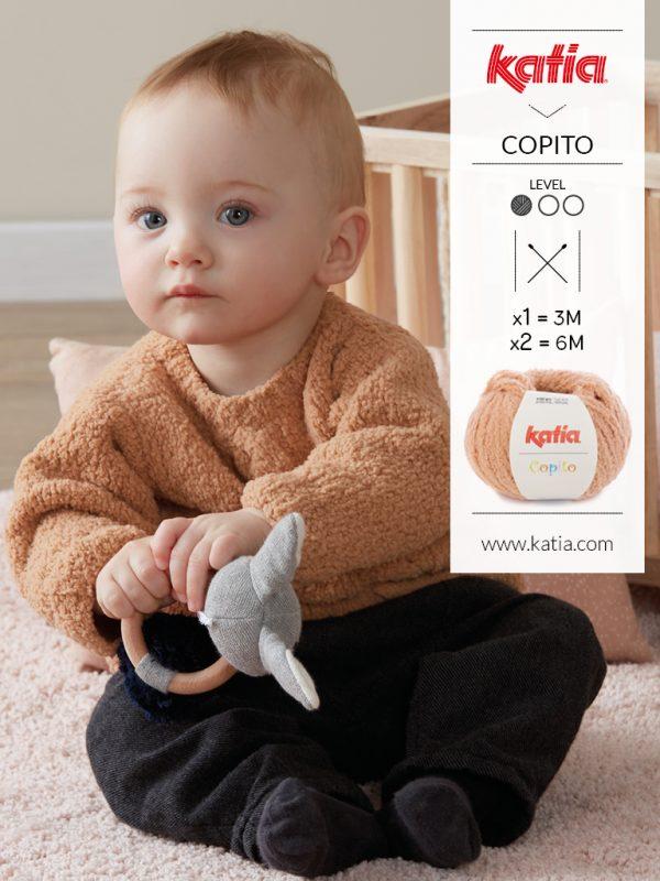 Jersey bebé a dos agujas