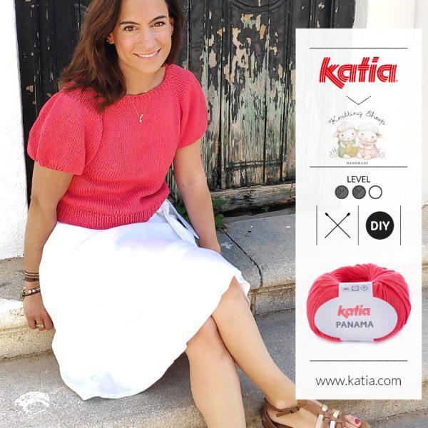 Top Manga Farol by Carolina Damonte de Knitting Sheep