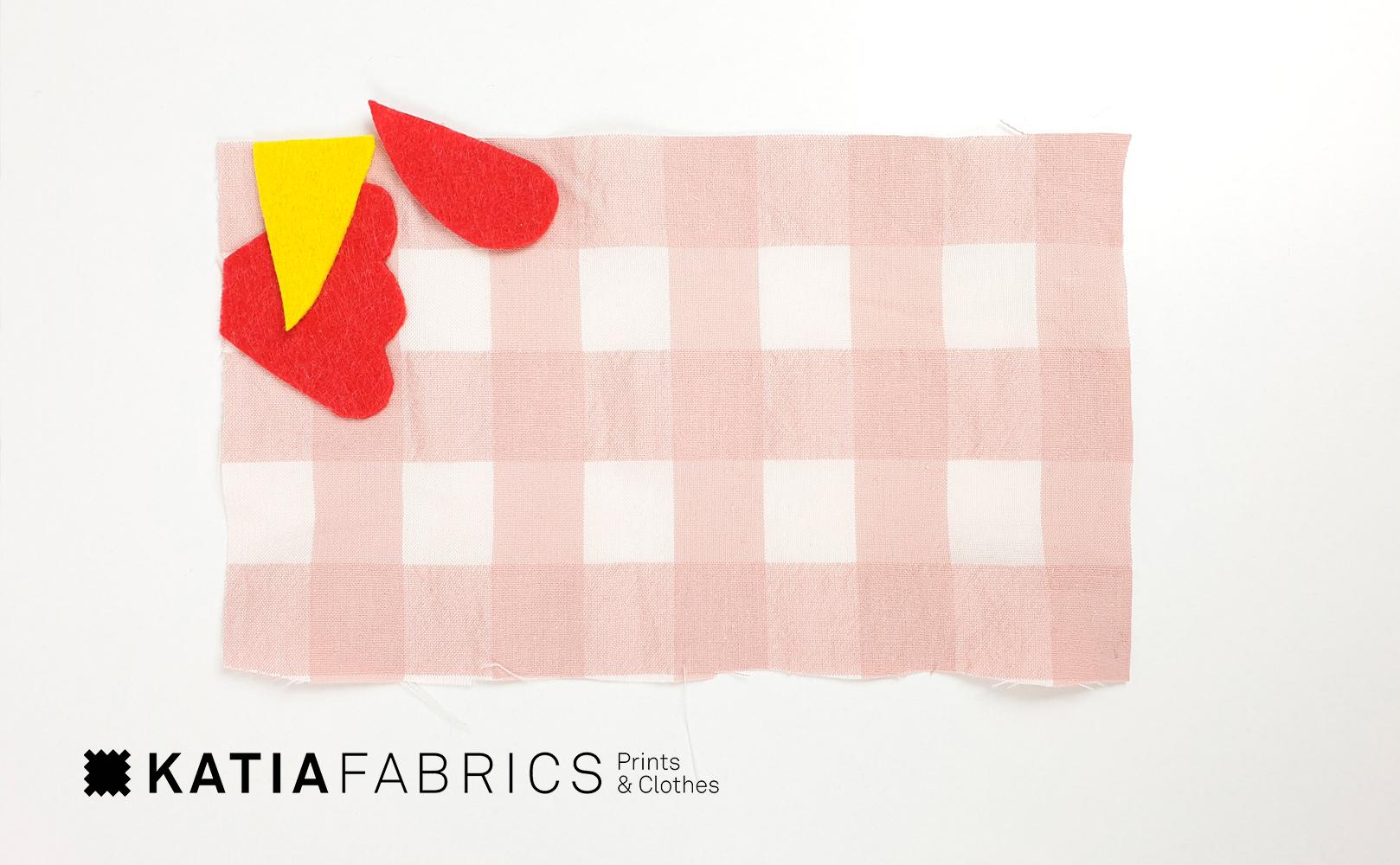 gallinas corte de la tela
