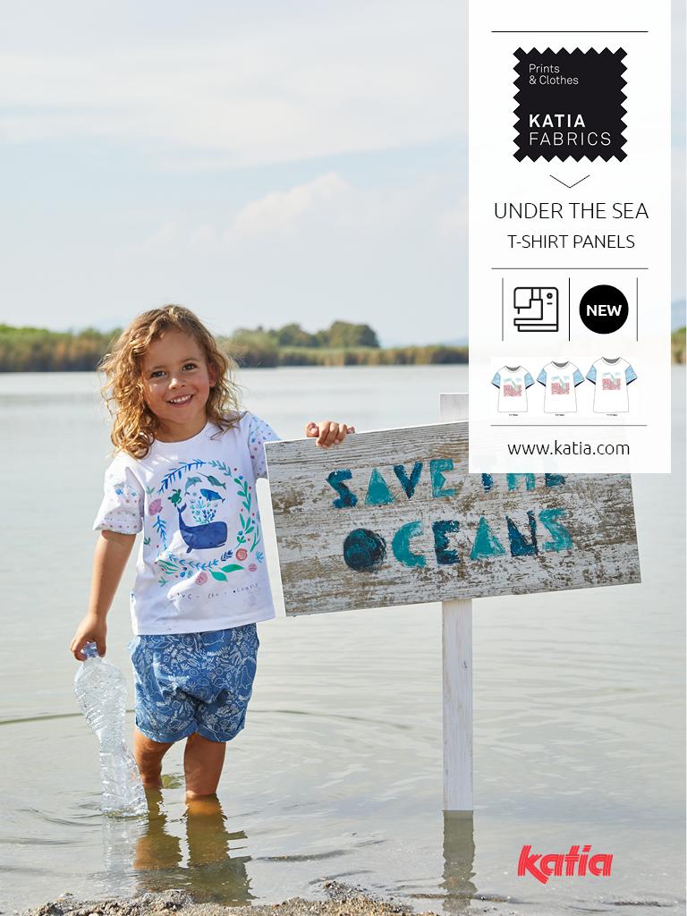 t-shirt panel under the sea