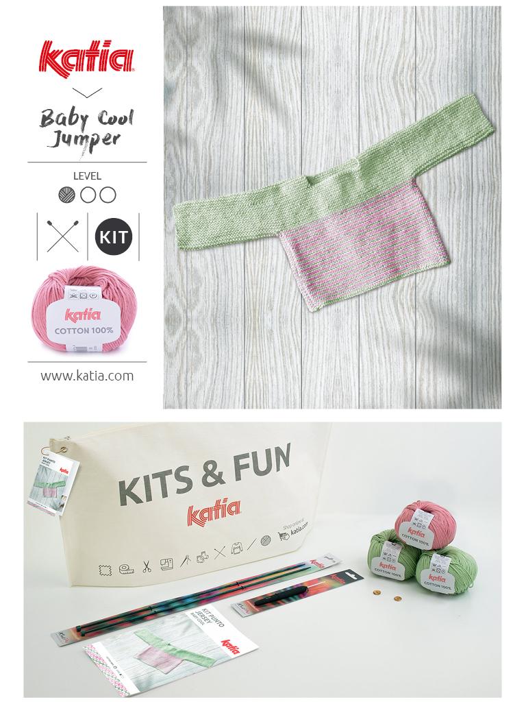 kit jersey bebé a dos agujas