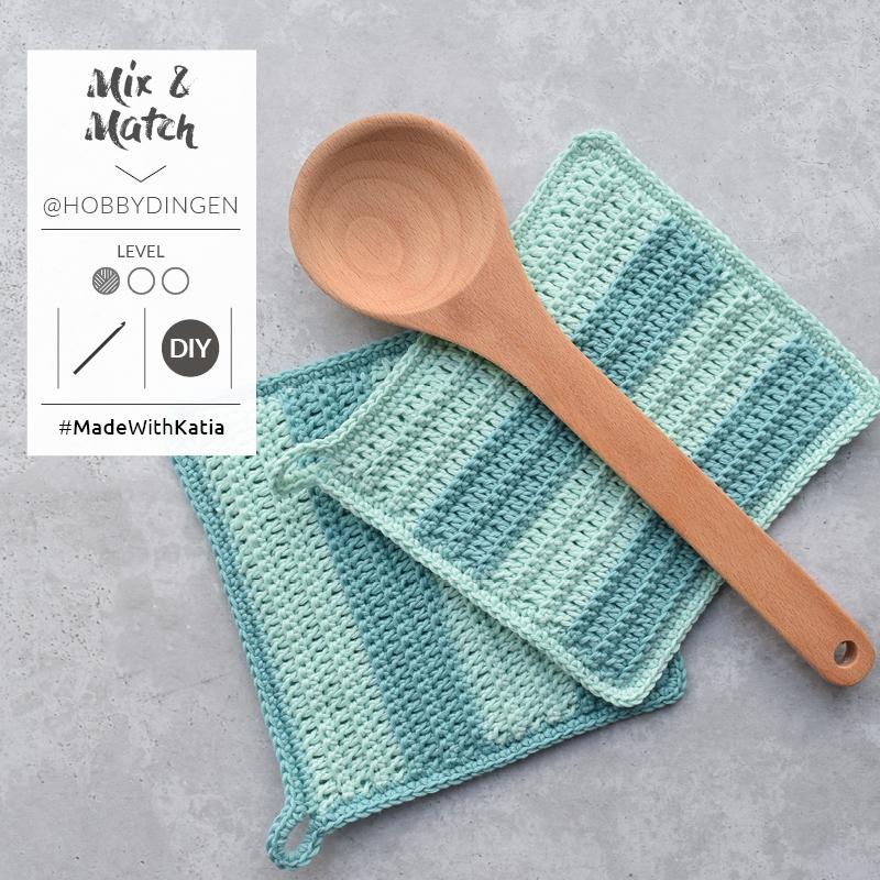 agarradores de cocina a crochet
