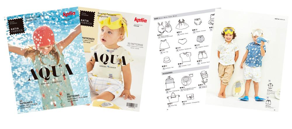 revista de costura AQUA