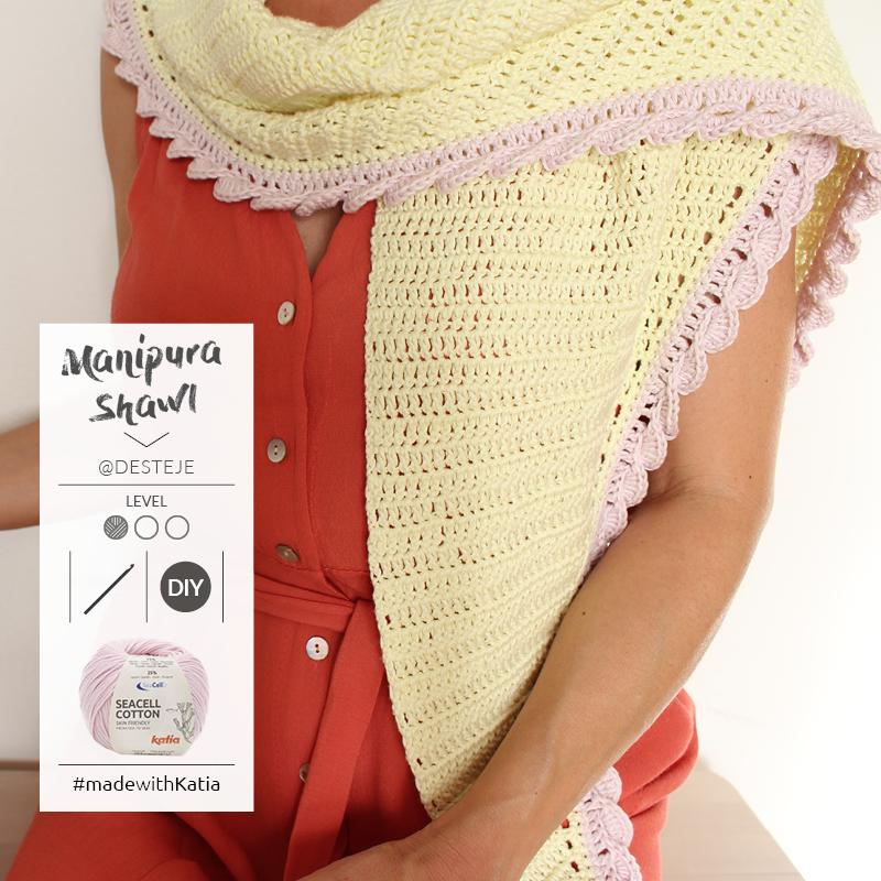 patrón pañoleta crochet