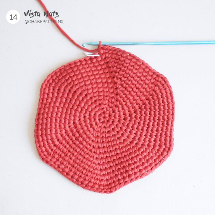 punto jersey a crochet en circular
