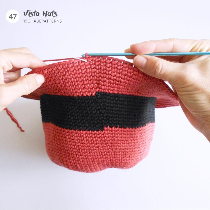 sombrero ala ancha a crochet