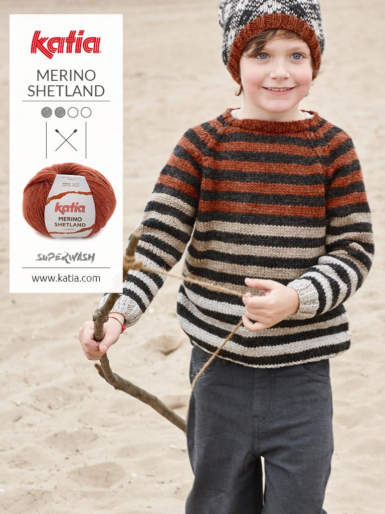 jersey a rayas para niño