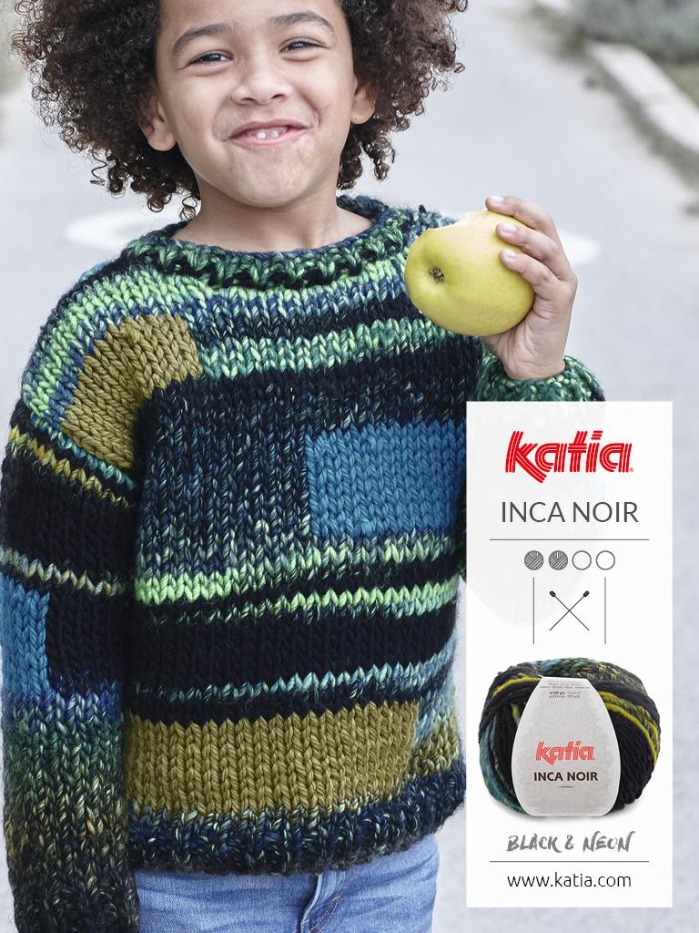 suéter multicolor estilo patchwork