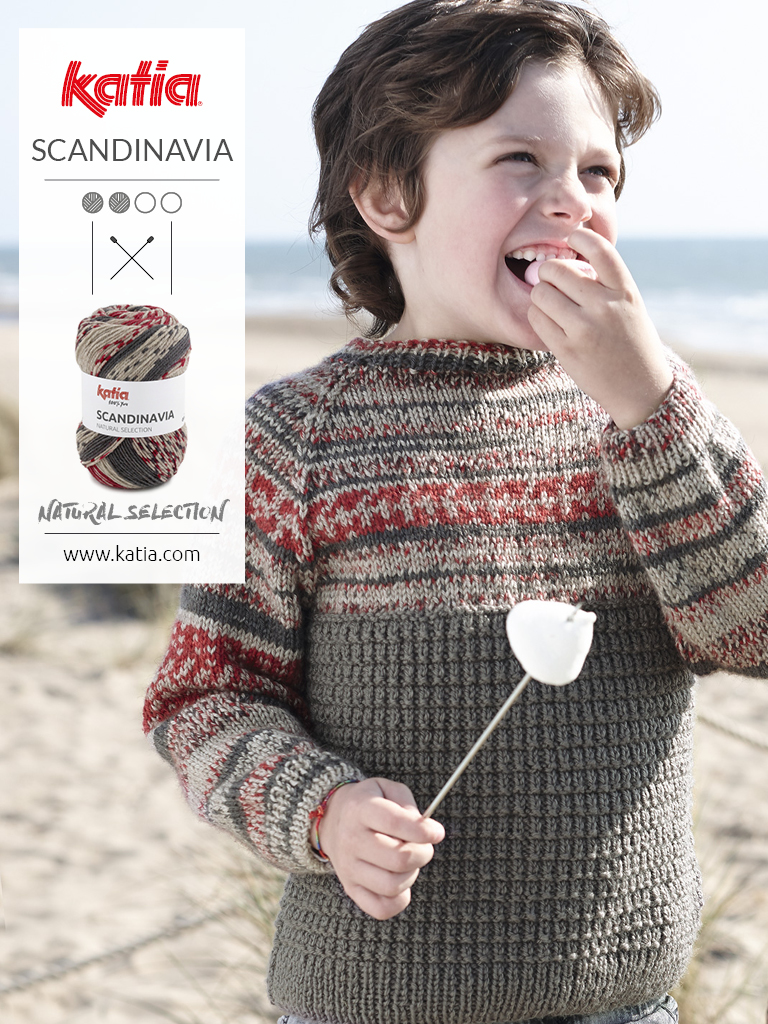 suéter con mangas raglán y canesú