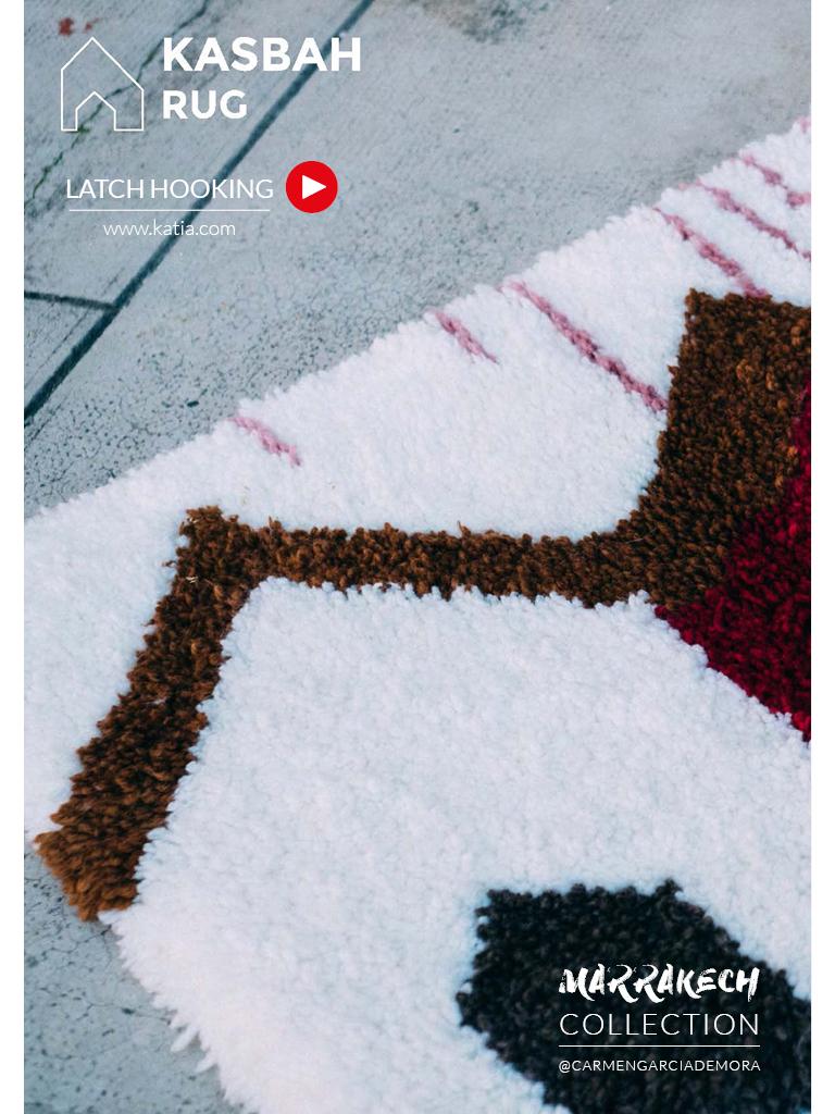alfombra latch hooking