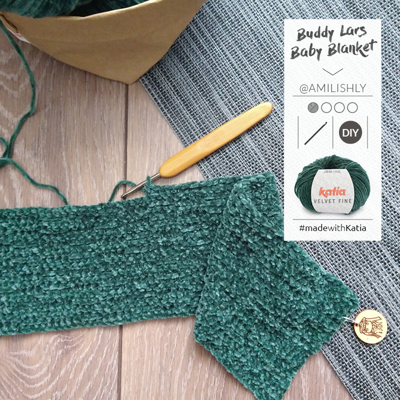 mantita crochet fácil