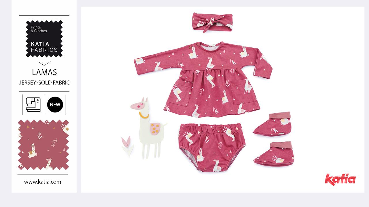 vestido bebé lamas