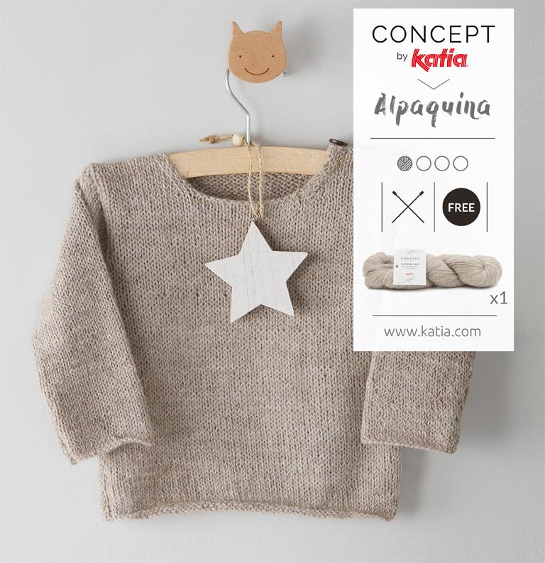jersey de bebé con una madeja