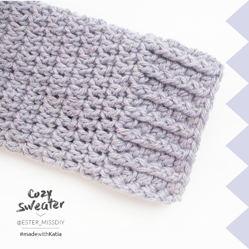 puños de mangas a crochet
